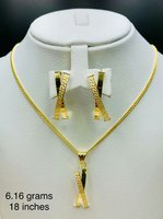 X-Style Set Genuine,18k Real Gold Italy