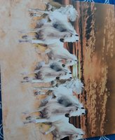 Used Printed running horses on a canvas for S in Dubai, UAE