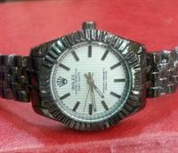 "ROLEX "" Black Metallica "" LADIES WATCH"