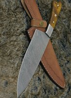 Used Damascus steel kitchen knife in Dubai, UAE