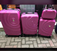 4pcs trolley Set pink