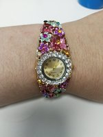 Used Bangle style pink ladies floral watch in Dubai, UAE