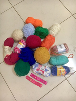Yarn for crocheting. Wool and acrylic.