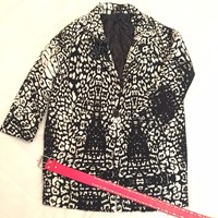Used Ginger Oversize Quilted Animal Print Coat in Dubai, UAE
