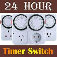 24 Hrs Elecrical Energy Saving Programmable Timer Plug Switch Socket - UK