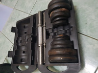 Used GYM DUMBELLS with BAR AND PLATES in Dubai, UAE