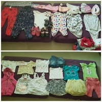 Used Baby girl clothes + SHOES (0-9 months) in Dubai, UAE