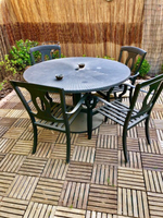 Used Fer forge table with 4 chairs  in Dubai, UAE