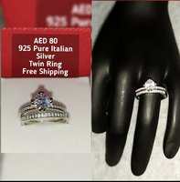 Used 925 Pure Italian Silver Twin Ring in Dubai, UAE