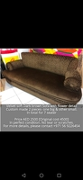 Used Dark Brown Velvet Sofa in Dubai, UAE