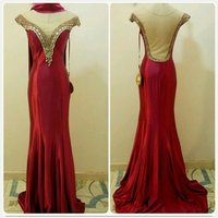 Elegant RED Long Dress...unique fabulous