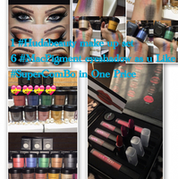 #HudaBeauty One Make Up Kit The Same Picture Above 6 Pieces #Mac Pigment Eyeshadow! Super Combo Set Mixing Giving To U Dears ! All In One Price ! My Pleasure