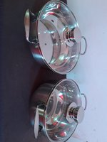 Cookware set stainless steel (x2 new
