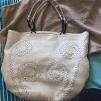 100%Authentic BOTTEGA VENETA OFF WHITE COLOR, Summer Bag, Large Tote Used But In Very Good Condition Leather With Dust Bag