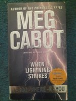 Used WHEN LIGHTNING STRIKES Meg Cabot in Dubai, UAE