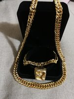 Used Golden dragon Ring, neclace, bracelet in Dubai, UAE