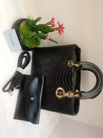 Used Christian Dior ladies bag black in Dubai, UAE