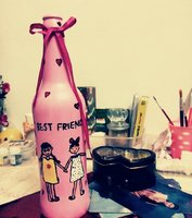 Used Bottle art gift for best friends😍 in Dubai, UAE