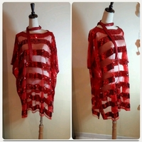 Used Brand New red  shiny Loose Top in Dubai, UAE