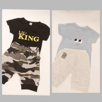 Used Baby Boys 2 Sets of T-Shirt & Shorts in Dubai, UAE