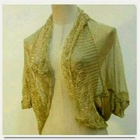 Golden cardigan for women