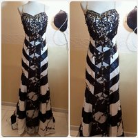 Used Elegant long dress fashion unique black/ in Dubai, UAE