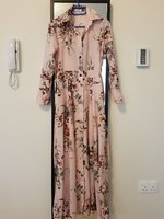 Used Pink floral dress in Dubai, UAE