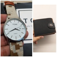 Used Original TOMI Watch♧ 🆓️ Leather Wallet in Dubai, UAE