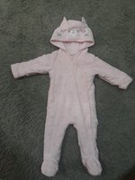 Used Baby girl winter onesie with hoodie in Dubai, UAE