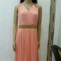 Used Brand New Designer Evening Gown with detailing on the shoulder and waist in Dubai, UAE