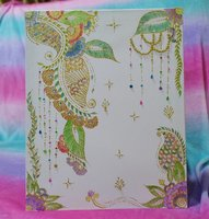 Used 50cm by 40cm Hand Painted Henna Canvas in Dubai, UAE