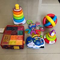 7 Baby Toys. Used But In Perfect Condition. Brands From Fisher Price, Leap Frog, Little Tikes, Bright Stars And B.