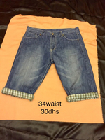 New denim shorts men's wear