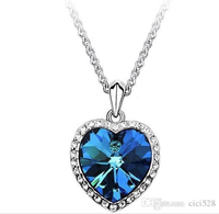 Necklace Titanic Ocean Of Heart With Chain. High Quality Materials. 2 Colors Available. 1 For 49 & 2 For 69