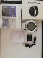 V8 Camera Smart Watch & inpods12 white
