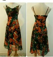 Dress Sleeveless Orange Color Available