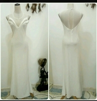 Long Dress White Color Small To Medium S