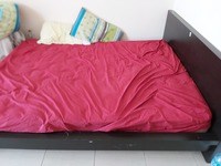 Used bed,queensize with matress in Dubai, UAE