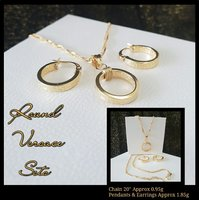 Round Versace Inspired 18k Italy Gold