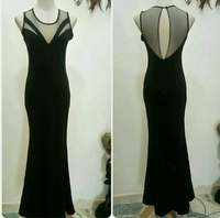 Long Dress Black Color Available Sizes S