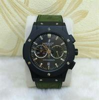 "HUBLOT ""Military Greenish Black Combo"" MEN'S WATCH"