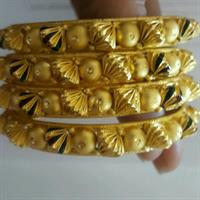 Used 4 PCS Hand Maded Bangels 22 K GOLD PLATED  in Dubai, UAE