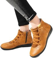 Used New leather brown anckle boot size 42 in Dubai, UAE