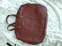 Cute maroon leather laptop bag