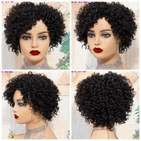 Cool black curly wig for her