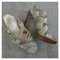 Used Original Coach Heels Sandals in Dubai, UAE