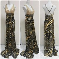Used Amazing beautiful long Dress backless.. in Dubai, UAE