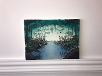 Oil painting of the forest