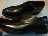 Classic black work shoes for men