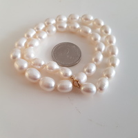 New real gold and pearls necklace